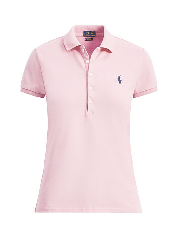 595a71d97d0b0 Ralph Lauren Femme – Slim Fit Stretch Mesh Polo – Country Club Pink ...